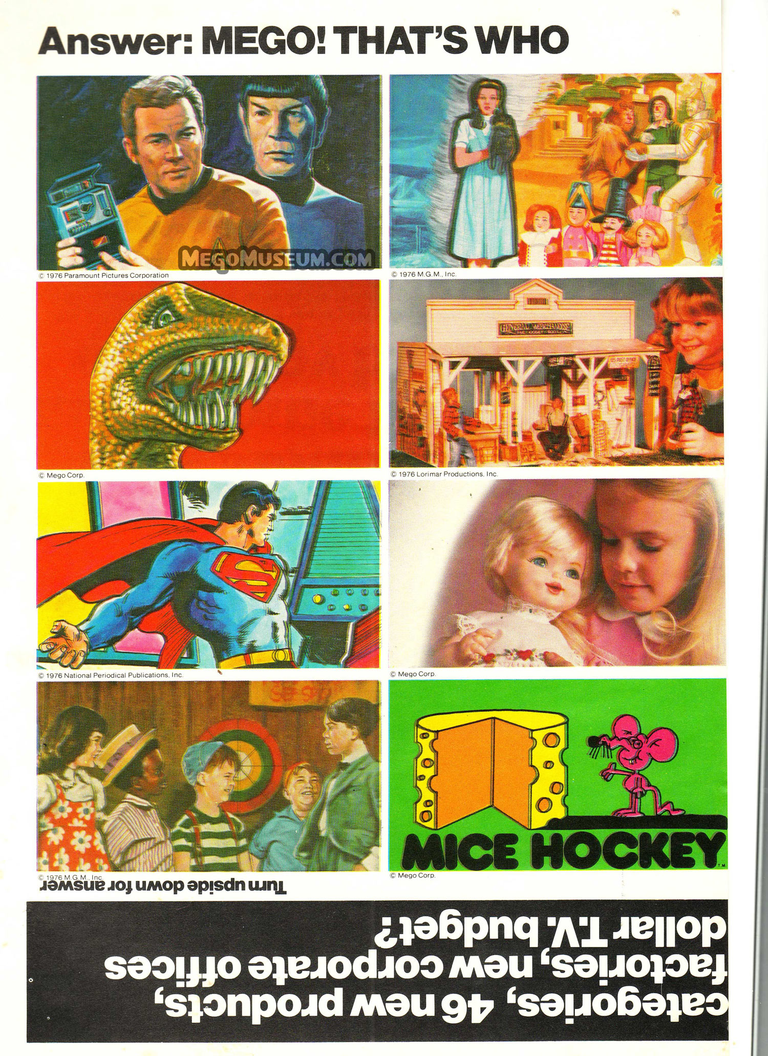 Mego 1976 Toy Trade Advertisement