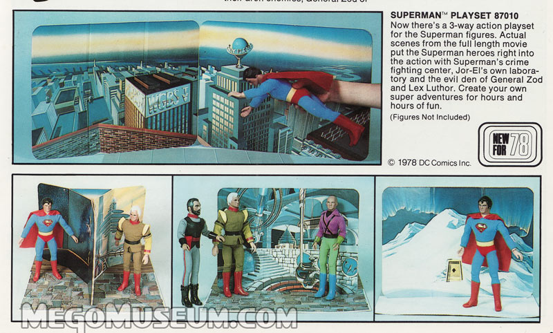 Mego Superman the Movie Playset