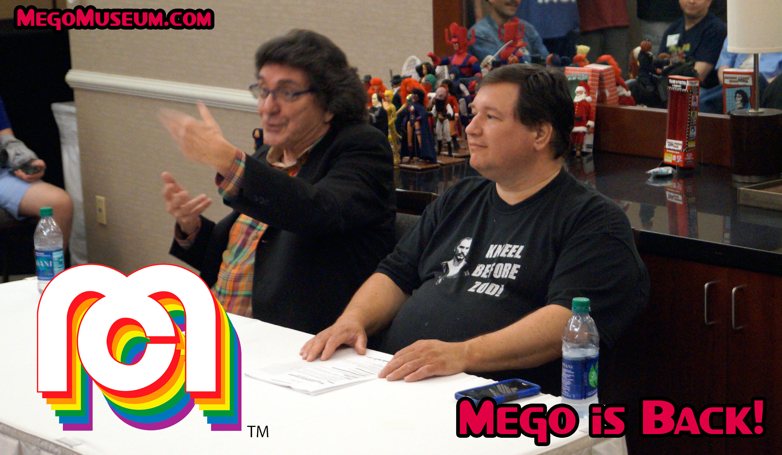 Marty Abrams officially announces the return of Mego Corporation at Mego Meet 2018.