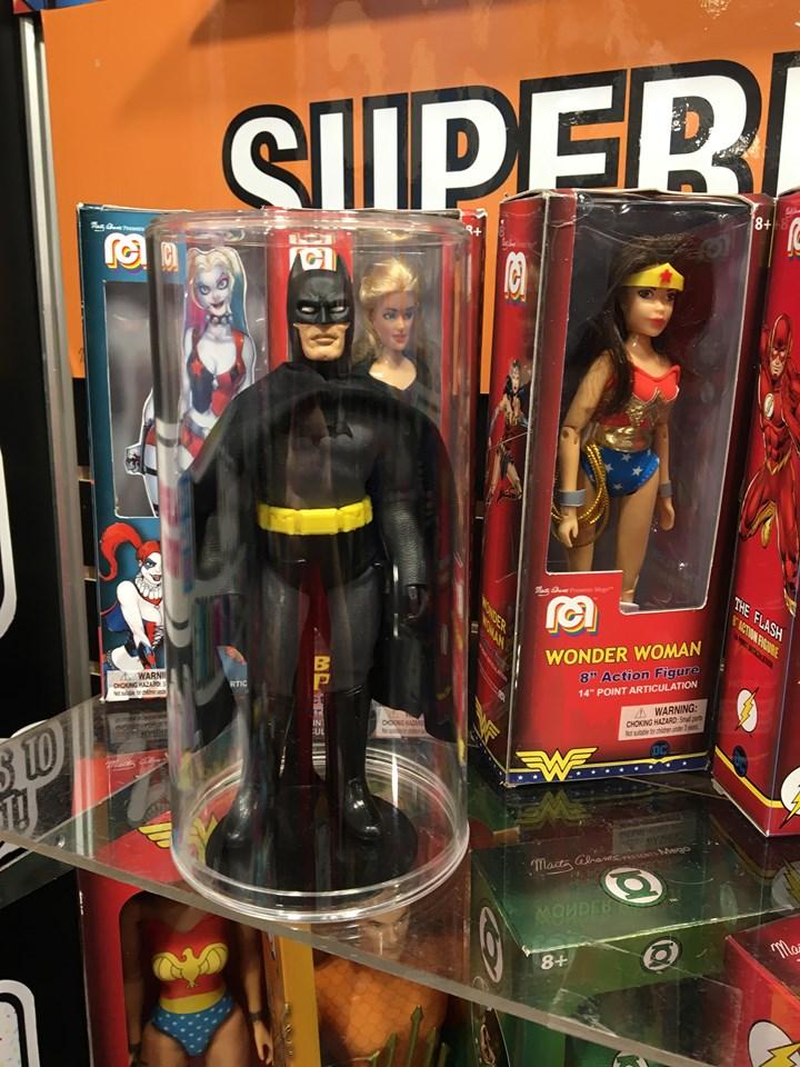 Mego superheroes at 2020 Toyfair