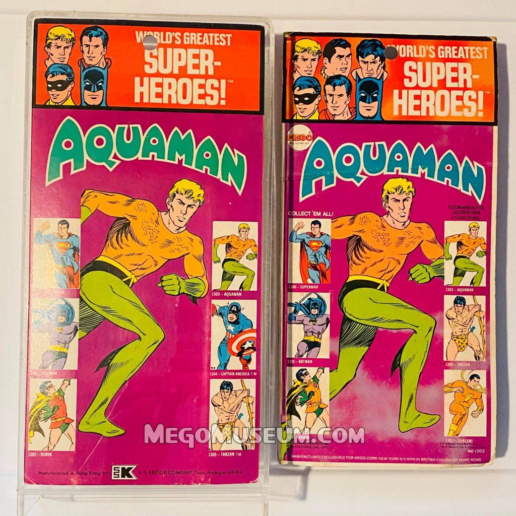 Mego Aquaman on 3rd Series Kresge Card