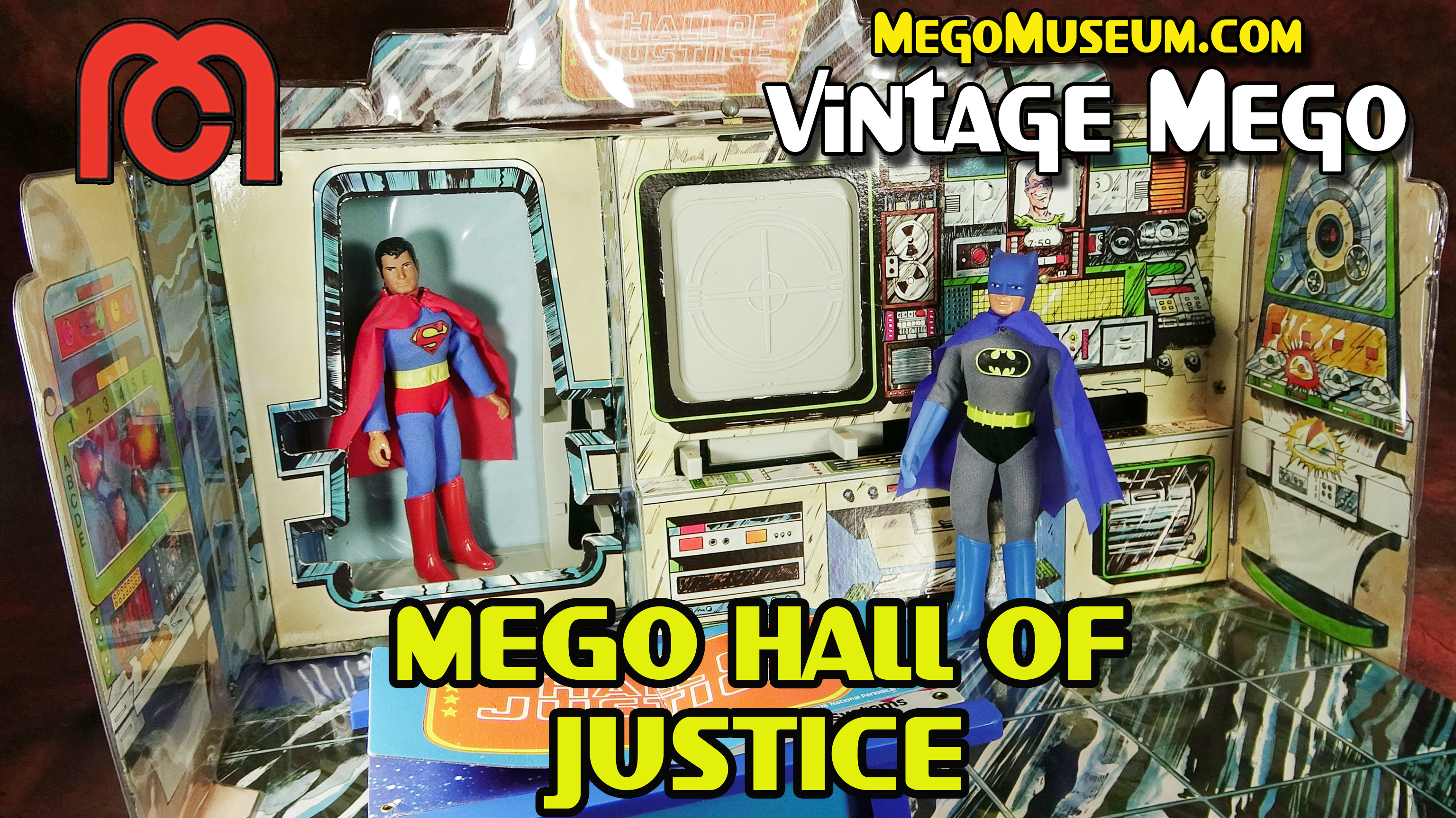 Mego Hall of Justice Playset