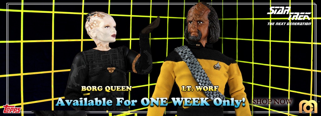 Mego Topps Star Trek TNG WORF and BORG QUEEN