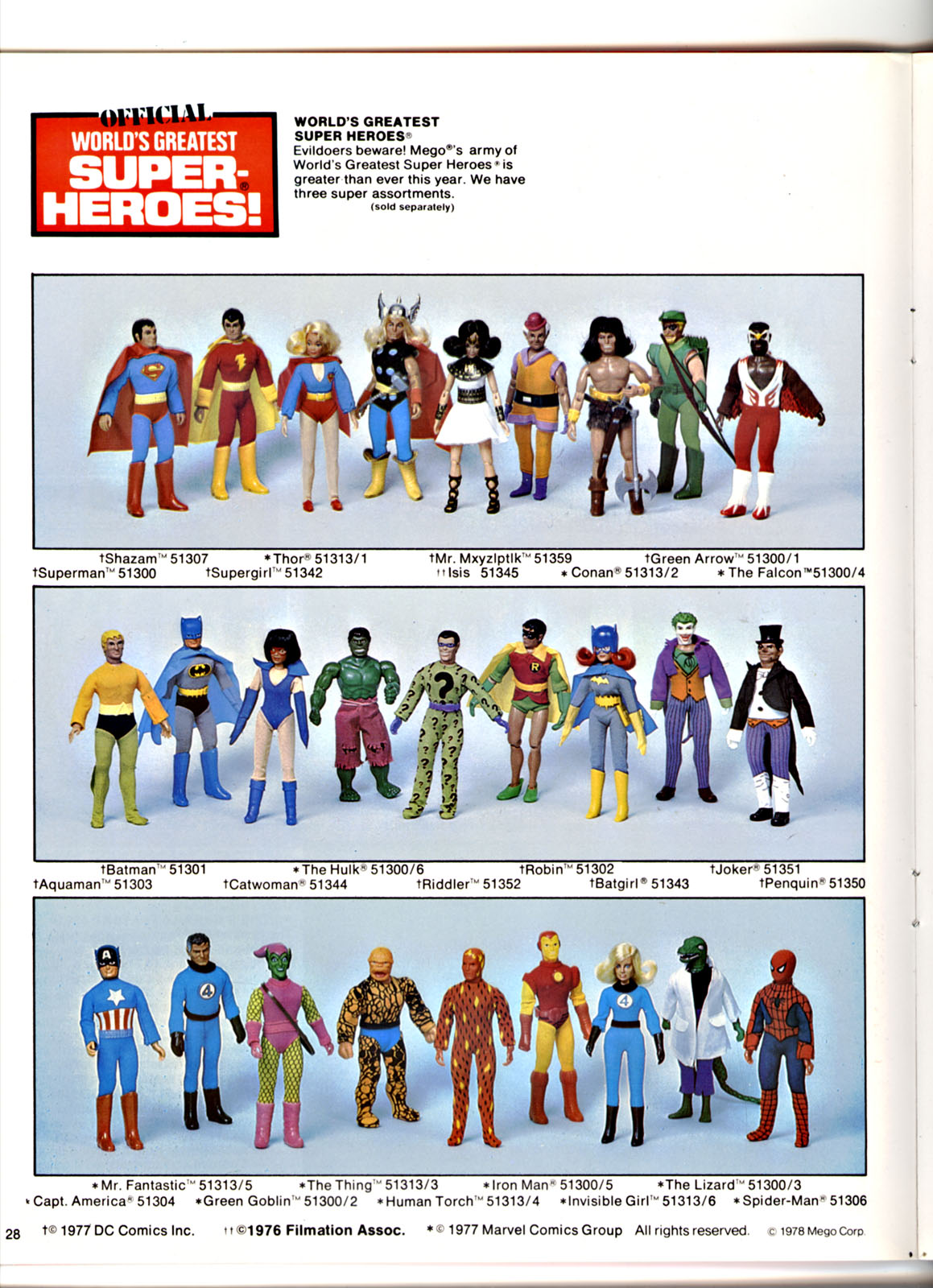 Mego Catalog Library: 1978 World's Greatest Super Heroes